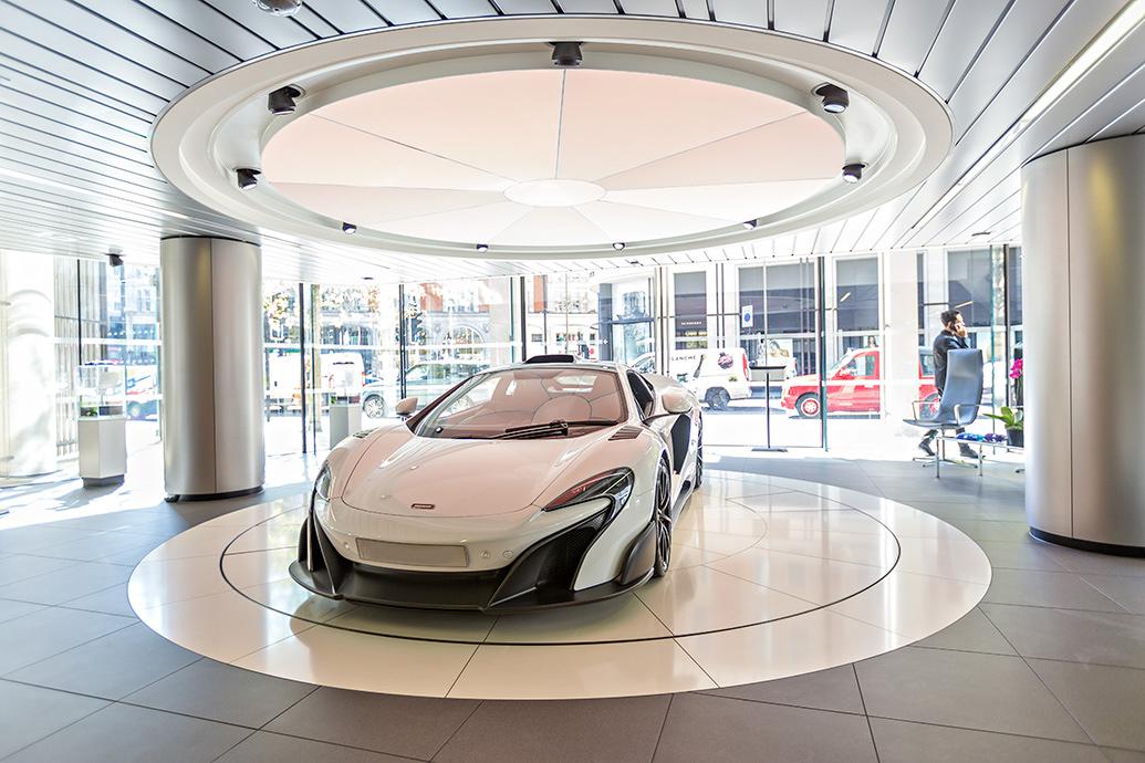 Allure In Design Intelligent LED Lighting For Luxury Car Showrooms - Car showroom