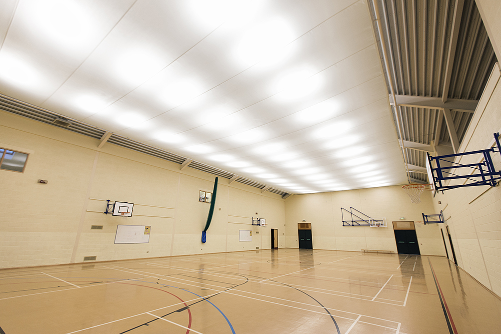 IMG 7575webDextra Lighting return to Local School for Sports Hall LED Upgrade  . Hall Lighting Uk. Home Design Ideas