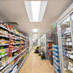 A supermarket using the Graduate LED Recessed 1200 x 600