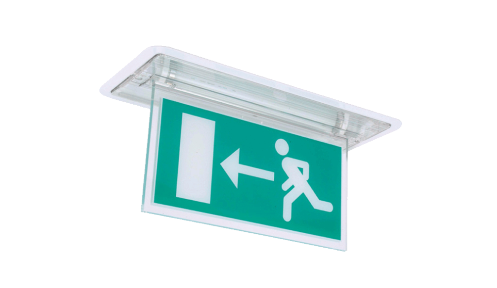 Oat hanging blade exit sign the oat is an 8w t5 self contained recessed hanging blade exit sign mozeypictures Images