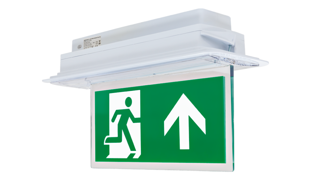 OAT2 LED ~ Hanging blade exit sign with energy efficient LED's