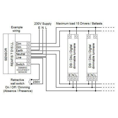 REAF 7 D15 LL_wir 400x400 reaf 7 d15 ll sensor dextra group tridonic switch dim wiring diagram at fashall.co